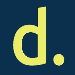 Navy blau Logo gelb